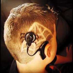 Child with Spider Cochlear Implant and Spider Web Haircut